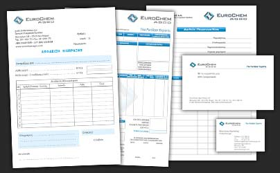 Corporate stationery of fertilizer trading company