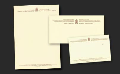 Letterhead, envelop, greeting card of a Greek Ministry of Culture branch